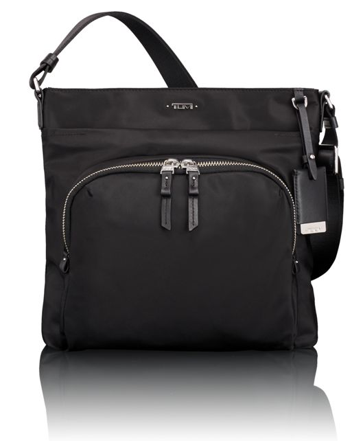 Capri Crossbody in Black w/Silver