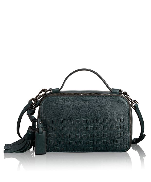 Angie Small Crossbody in Pine Woven