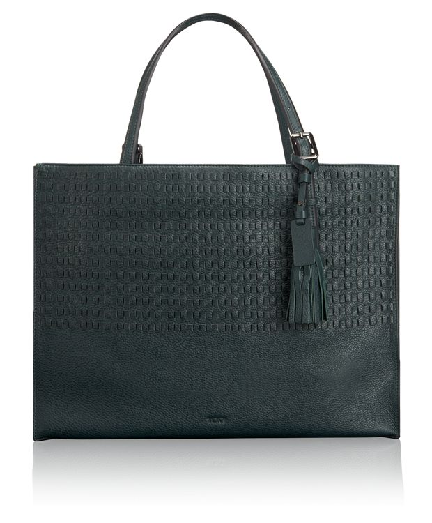 Emily Tote in Pine Woven