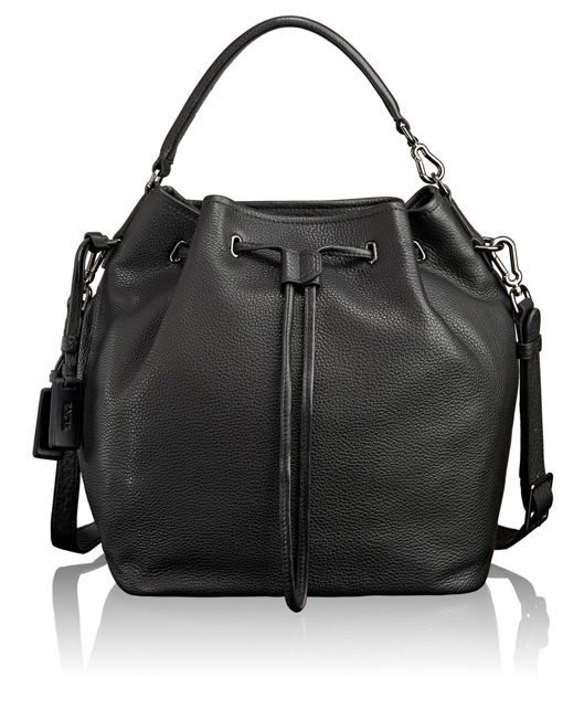Georgie Bucket Bag in Black