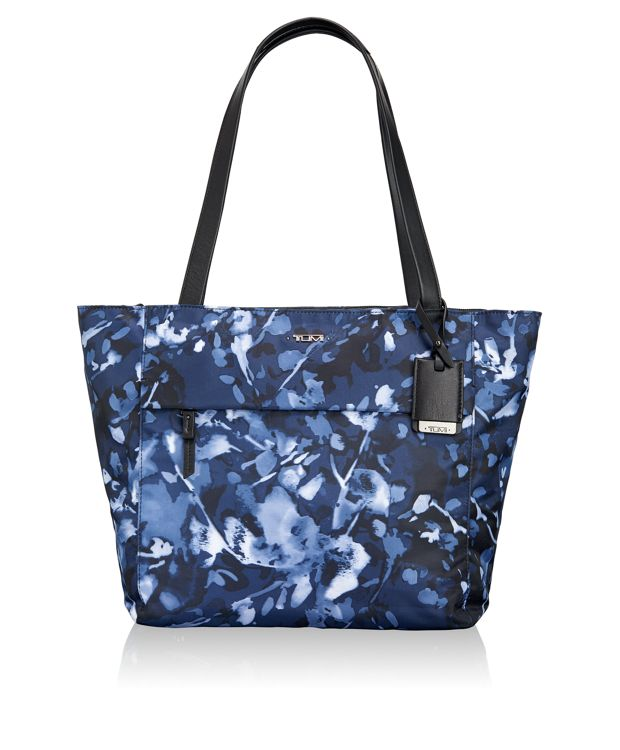Small M-Tote in INDIGO FLORAL