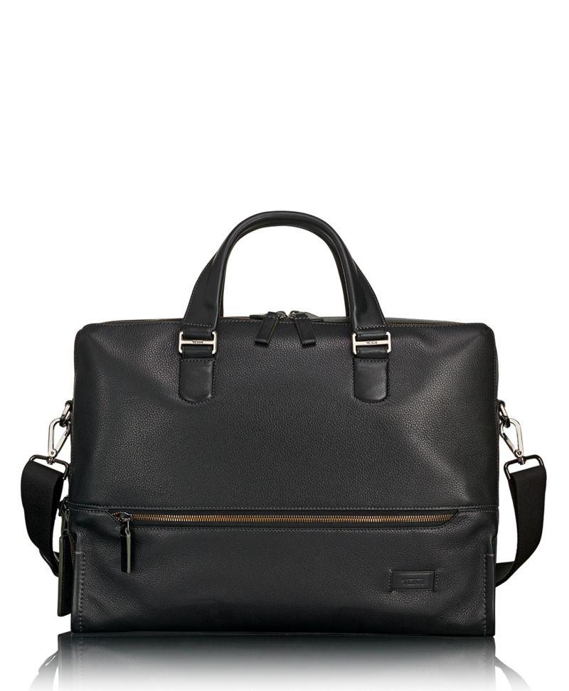 Horton Double Zip Brief Leather
