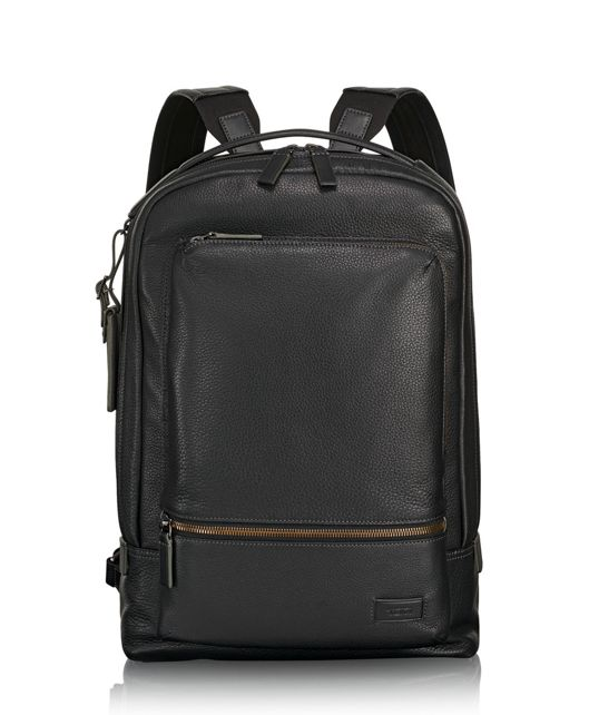 Bates Backpack Leather in Black Pebbled