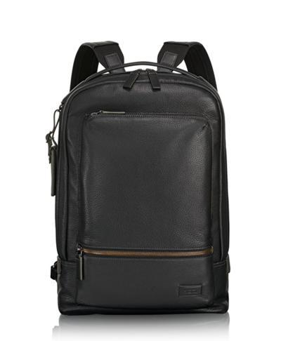 657bbeaf5e3a9f Bates Backpack Leather - Harrison - Tumi United States - Black Pebbled