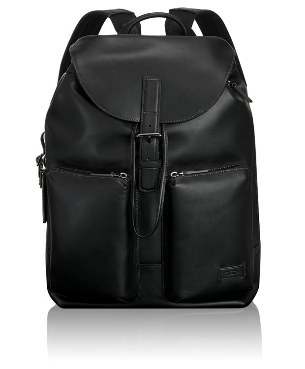 Lockwood Flap Backpack in Black