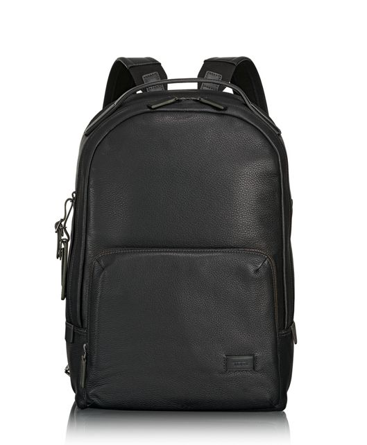Webster Backpack in Black Pebbled