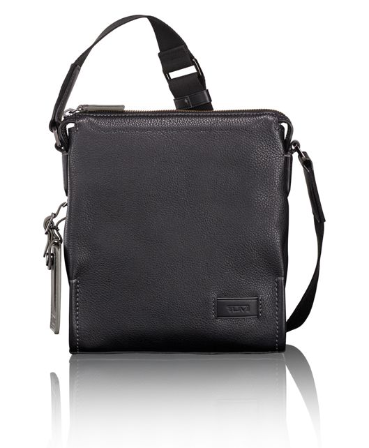 Scott Crossbody in Black Pebbled