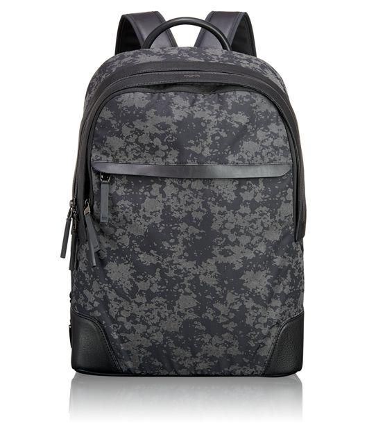 Stanford Backpack in Gunmetal Drip Print