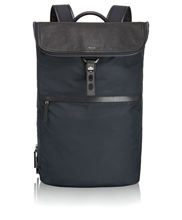 Elias Flap Backpack in Navy