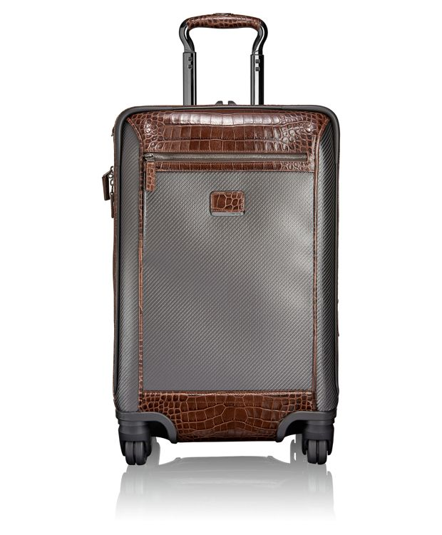 Donington International 4 Wheeled Carry-On in Carbon Brown Croc