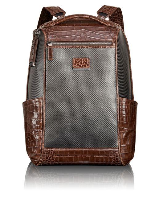 Watkins Backpack in Carbon Brown Croc