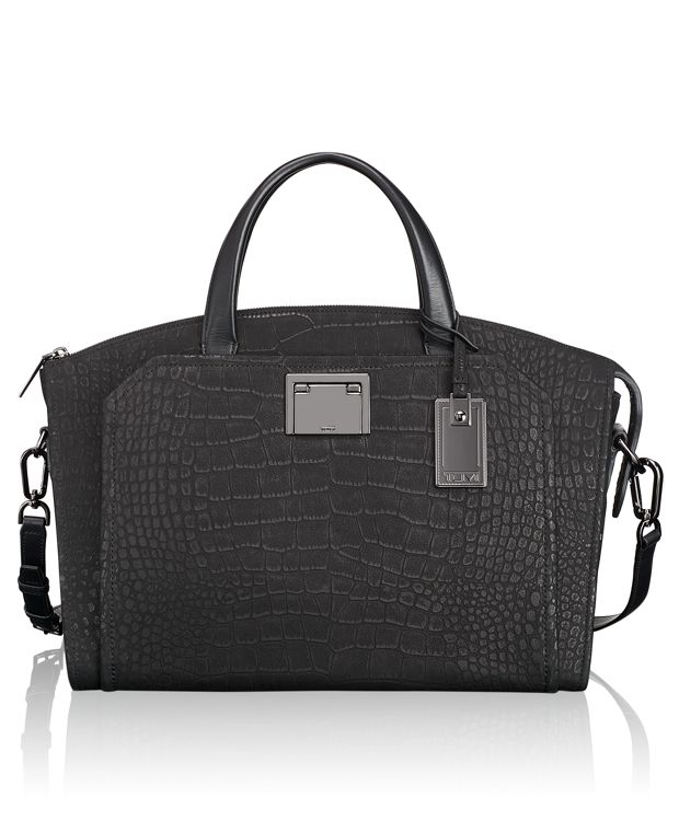Eva Satchel in Black Croco