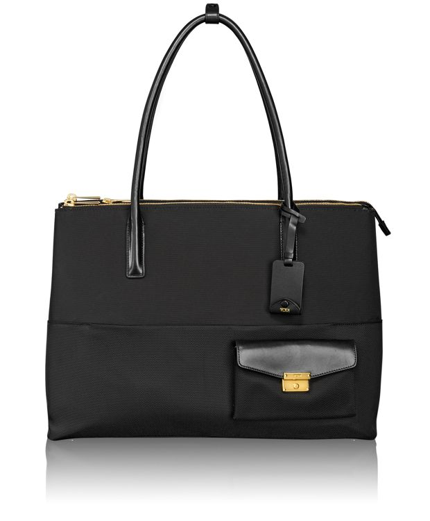 Hayes Triple Compartment Tote in Black