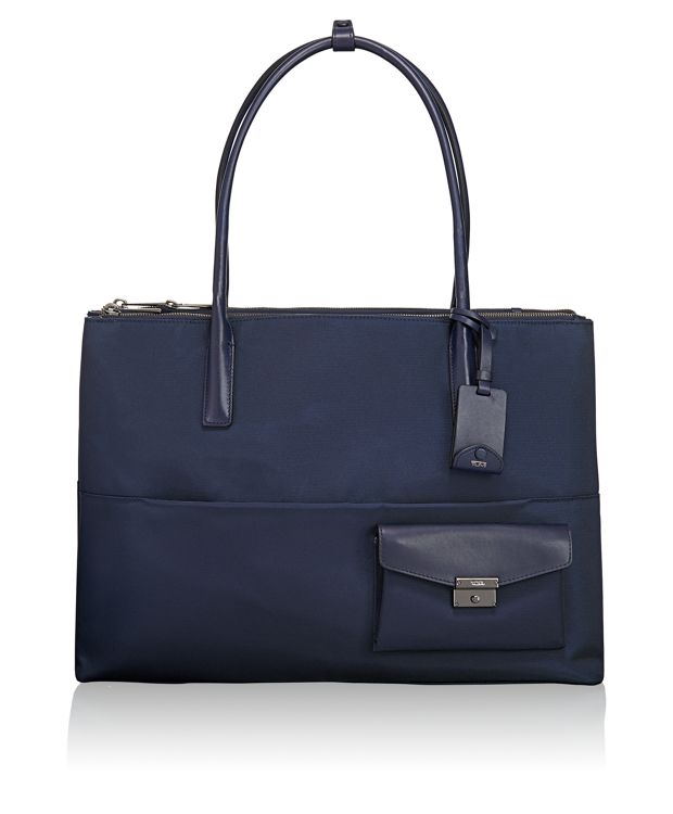 Hayes Triple Compartment Tote in Indigo