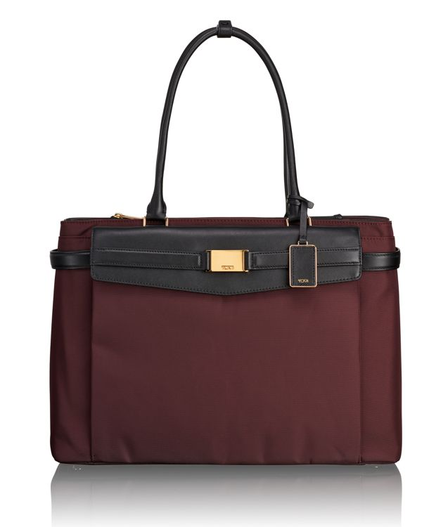 Hayward Triple Compartment Tote in Bordeaux