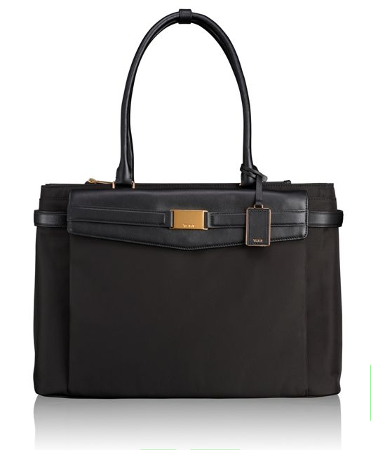 Hayward Triple Compartment Tote in Black