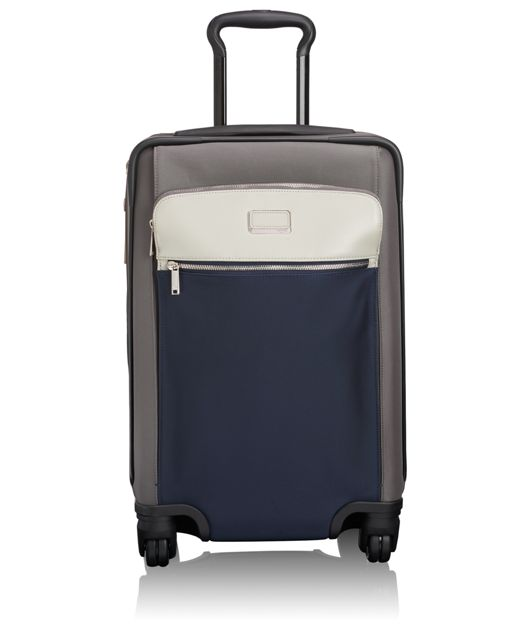 Sam International Expandable 4 Wheeled Carry-On in Grey/Blue Spectator