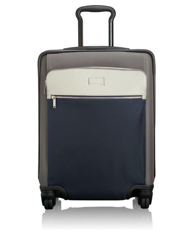 Alex Continental Expandable 4 Wheeled Carry-On in Grey/Blue Spectator