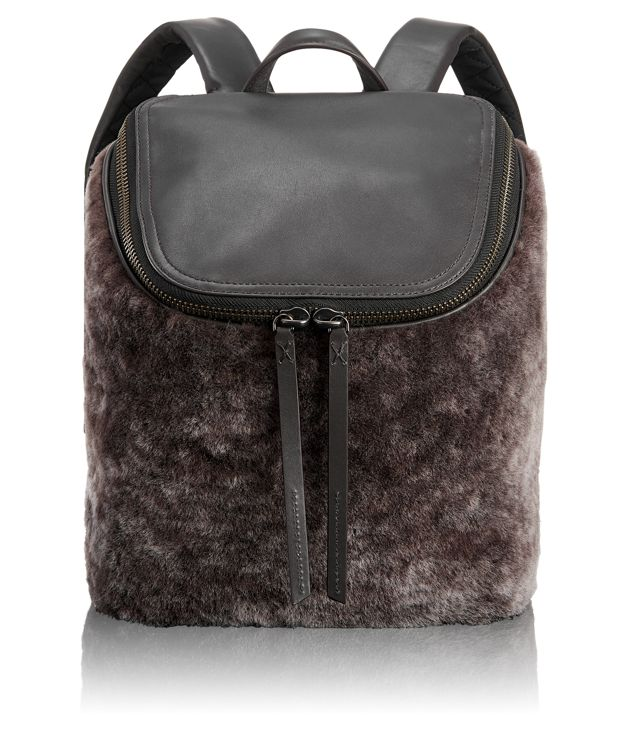 Waverly Small Backpack in Shearling
