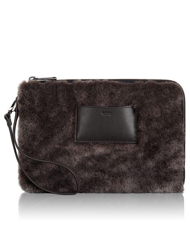Emma Pouch in Shearling