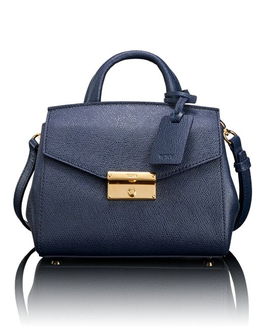 Mini Satchel in Navy