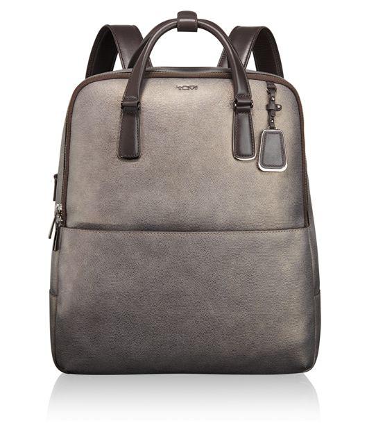 Olivia Convertible Backpack in Metallic Saffiano