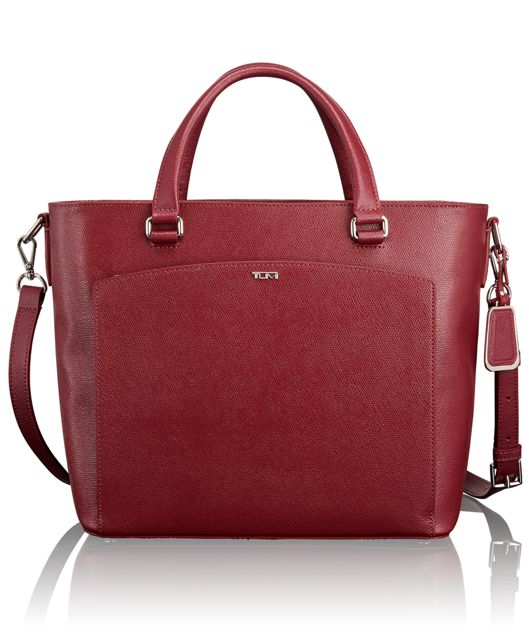 Small Camila Tote in Cranberry