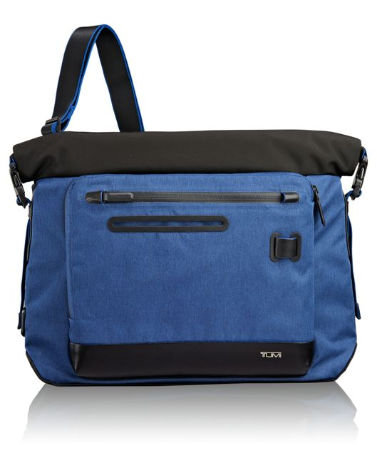 Marino Roll Top Messenger in Blue