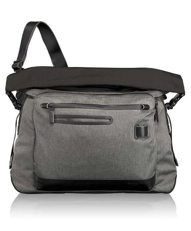 Marino Roll Top Messenger in Grey