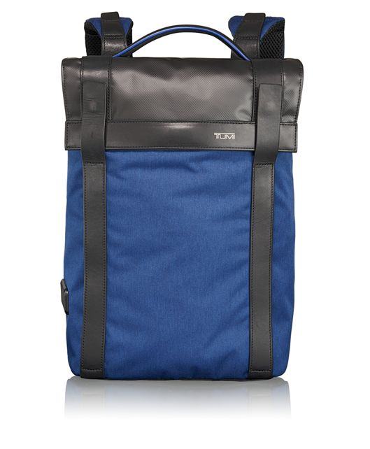 Kent Flap Backpack in Blue