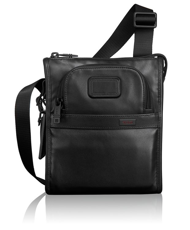 Leather Pocket Bag Small in Black