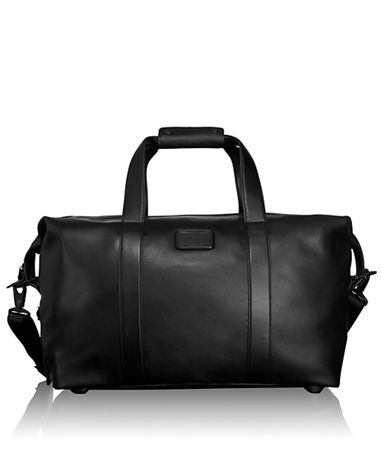 Small Soft Leather Travel Satchel in Black