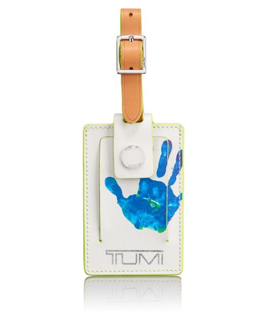 Luggage Tag in Hand Print