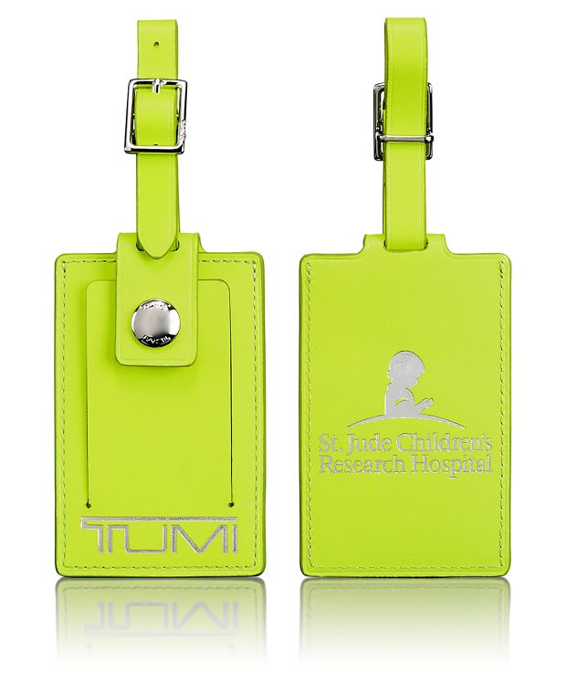 Luggage Tag in Bright Green