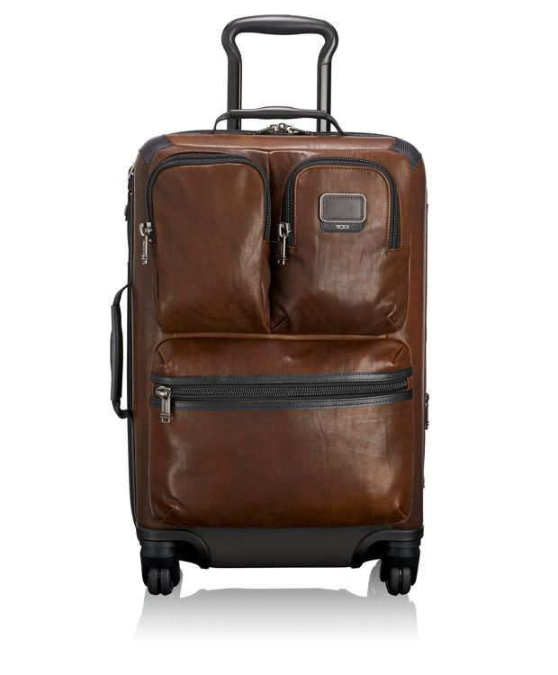 Kirtland International Expandable Leather Carry-On in Dark Brown