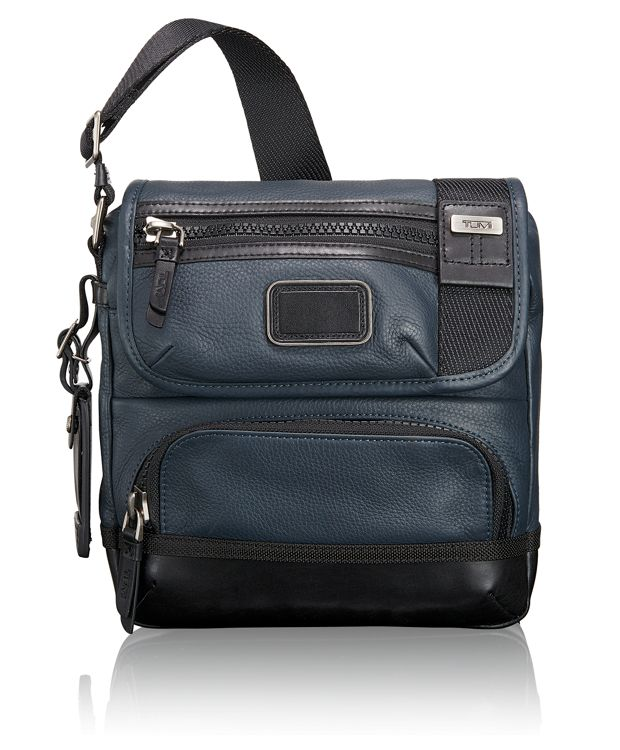 Barstow Leather Crossbody in Dusk Blue