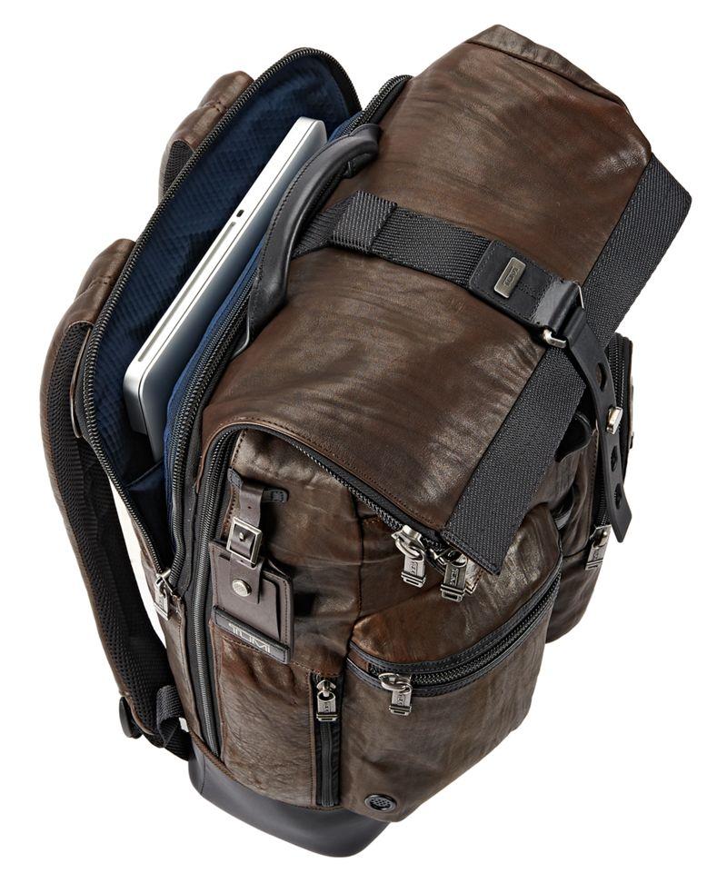Luke Roll Top Leather Backpack - Alpha Bravo | TUMI United States