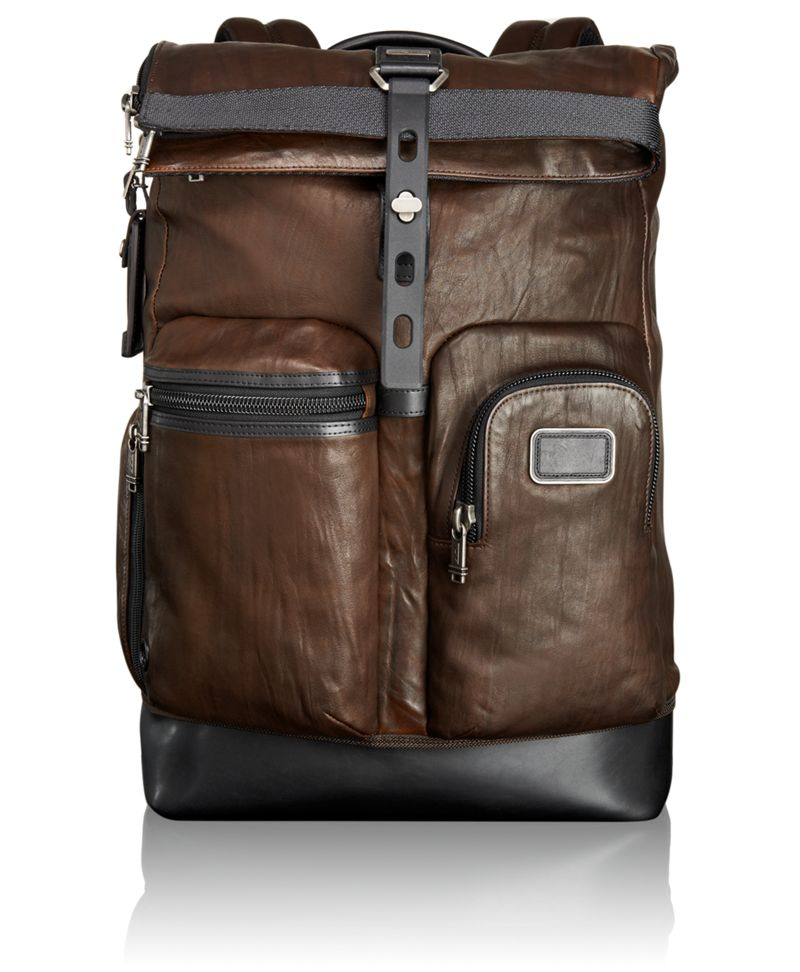 Luke Roll Top Leather Backpack