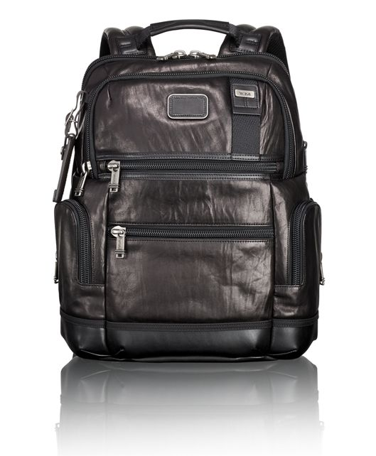 Knox Leather Backpack in Black