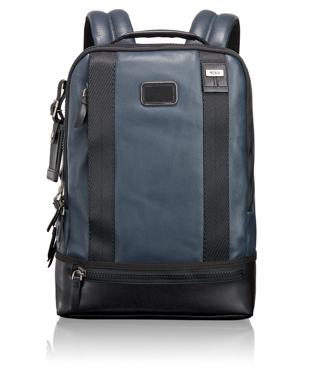 Dover Leather Backpack in DUSK BLUE