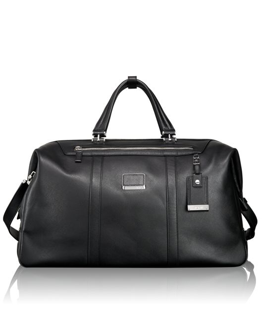 San Remo Leather Duffel in Black