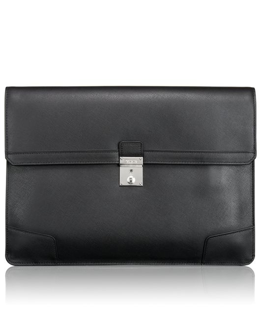 Drexel Envelope Leather Brief in Black