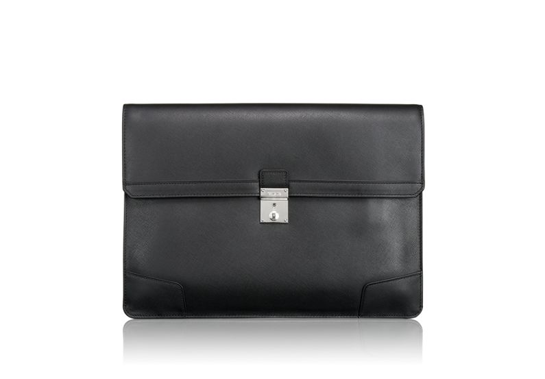 Drexel Envelope Leather Brief in Black
