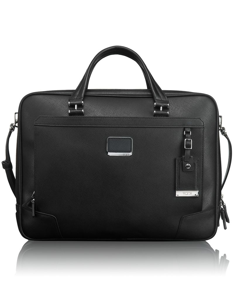 Ansonia Zip Top Leather Brief