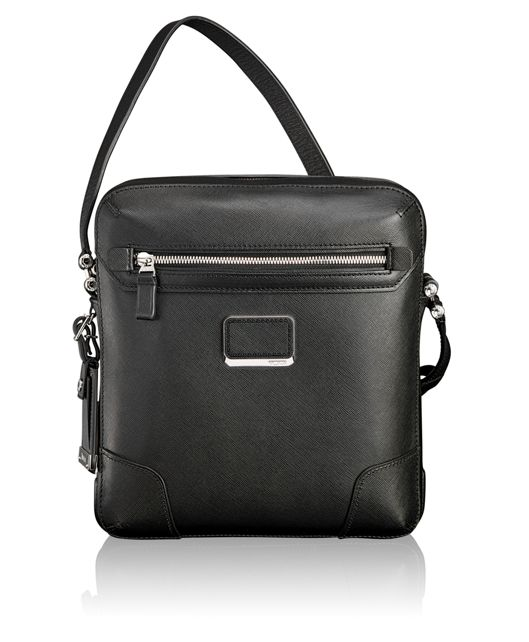 Carnegie Leather Crossbody in Black
