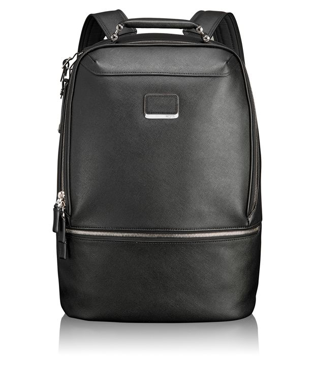 Stratford Leather Backpack in Black