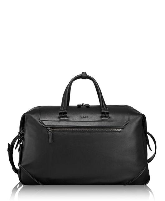 Lenox Leather Duffel in Black
