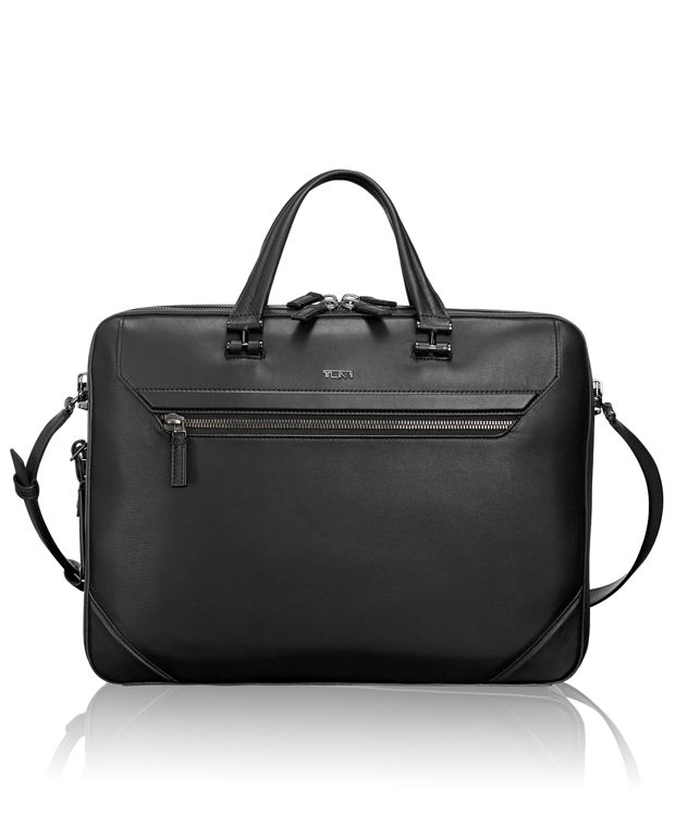 Collins Leather Brief in Black