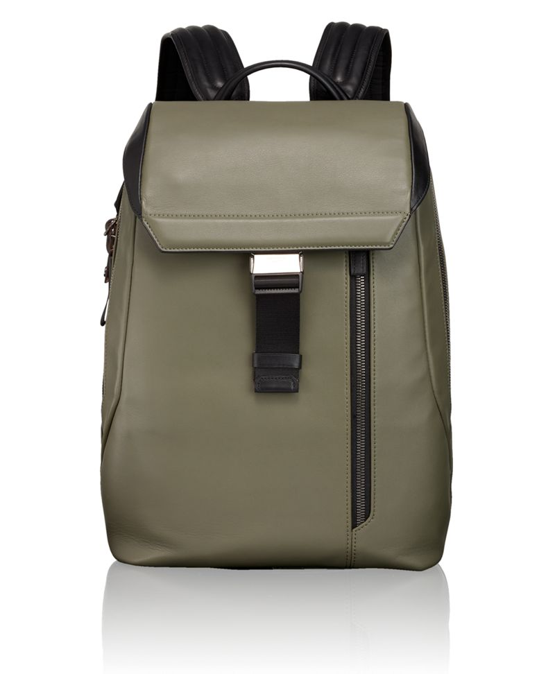 Dresden Flap Leather Backpack