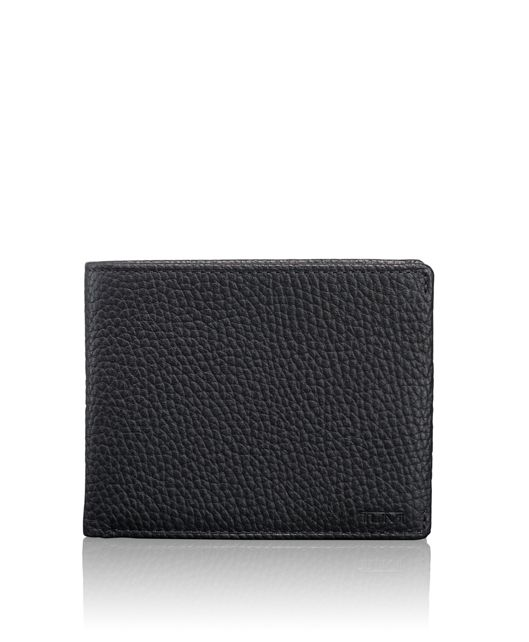 Global Double Billfold in Matte Black